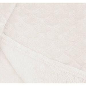 Světle krémová deka z mikrovlákna DecoKing Sardi, 150 x 200 cm