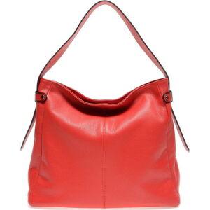 Červená kožená kabelka Isabella Rhea