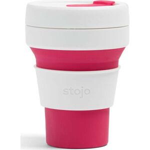 Bílo-růžový skládací hrnek Stojo Pocket Cup, 355 ml