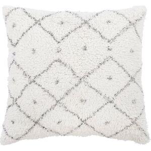 Bílo-šedý bavlněný dekorativní polštář Tiseco Home Studio Dots,45x45cm