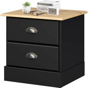 Černý noční stolek se 2 zásuvkami Støraa Leander