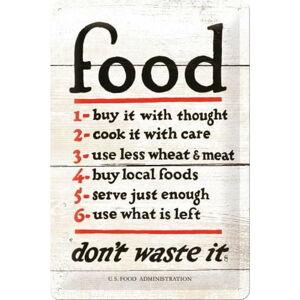 Nástěnná dekorativní cedule Postershop Food Rules