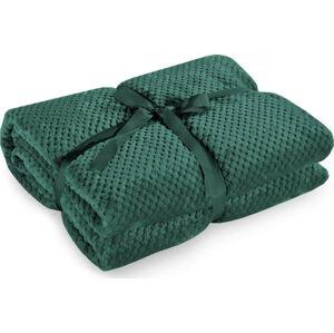 Tmavě zelená deka z mikrovlákna DecoKing Henry,170x210cm