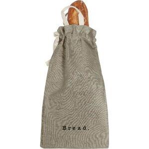 Látkový vak na chléb s příměsí lnu Linen Couture Bag Grey, výška 42 cm