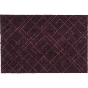 Tmavě vínová rohožka tica copenhagen Lines, 60x90cm