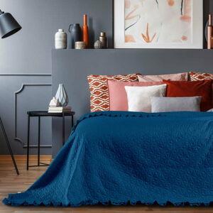 Modrý přehoz přes postel AmeliaHome Tilia, 240x220cm