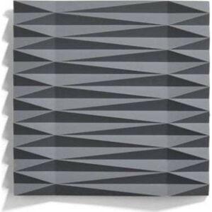 Šedá silikonová podložka pod hrnec Zone Origami Yato, 16x16cm