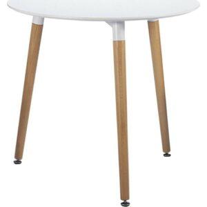 Bílý jídelní stůl Leitmotiv Elementary, ø80cm