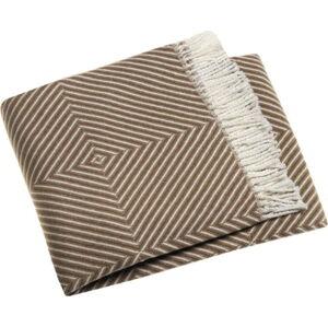 Kaštanově hnědý pléd s podílem bavlny Euromant Tebas, 140x180cm