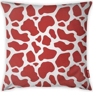 Červeno-bílý povlak na polštář Vitaus Animal Print, 43 x 43 cm
