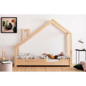 Domečková postel z borovicového dřeva Adeko Luna Carl,80x180cm
