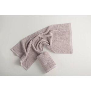 Světle šedý bavlněný ručník El Delfin Lisa Coral, 30 x 50 cm