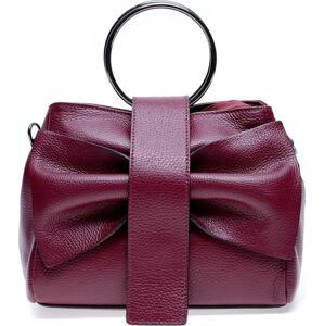 Červená kožená kabelka Roberta M Annabella