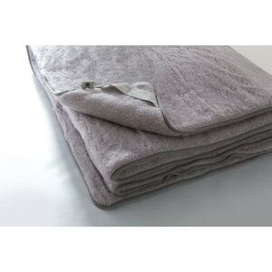 Šedá deka z merino vlny Royal Dream Quilt,200x220cm