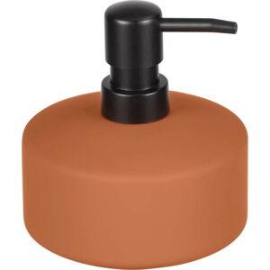 Oranžový keramický dávkovač mýdla Wenko Avellino