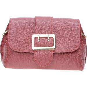 Vínově červená kožená taška přes rameno se 3 kapsami Isabella Rhea