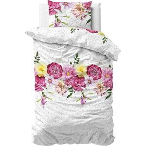 Flanelové povlečení na jednolůžko Sleeptime Love Garden,140x220cm