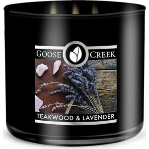 Pánská vonná svíčka v dóze Goose Creek Teakwood & Lavender, 35 hodin hoření