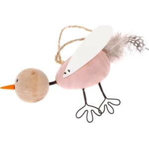 Drátěný dekorativní závěsný ptáček Dakls Bird Tres