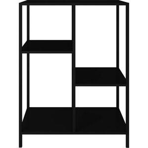 Černý kovový regál Canett Lite, výška 81 cm