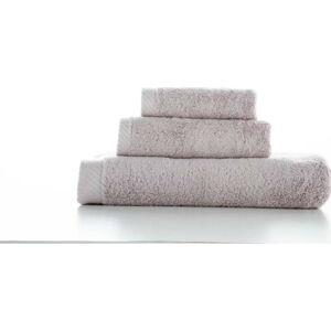 Sada 3 světle šedých bavlněných ručníků El Delfin Lisa Coral