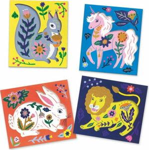 Sada uměleckých perliček a předloh Djeco Květinová zvířátka