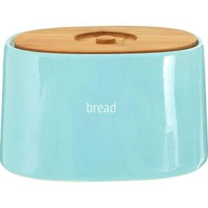 Modrý chlebník s bambusovým víkem Premier Housewares Fletcher, 800 ml