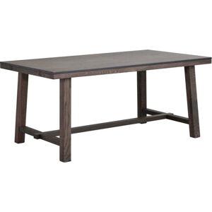 Tmavě hnědý dubový jídelní stůl Rowico Brooklyn, délka 170 cm