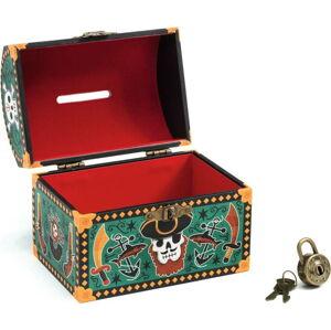 Dětská kasička Djeco Pirátská truhla