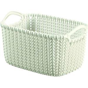 Bílý úložný košík CURVER Knit,3l