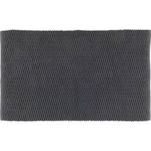 Tmavě šedá bavlněná koupelnová předložka Wenko Mona,50x80cm