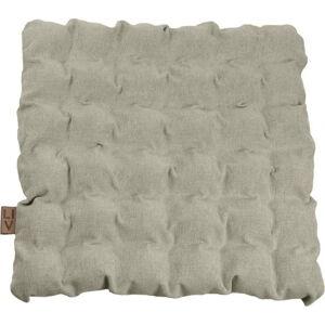 Světle šedý sedací polštářek s masážními míčky Linda Vrňáková Bubbles, 55x55cm