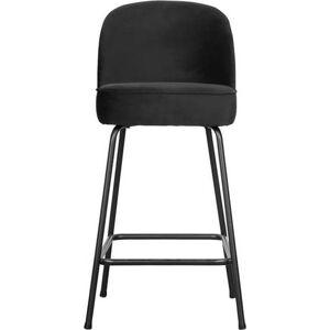 Černá barová židle BePureHome Vogue Velvet, výška 89 cm