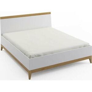 Dvoulůžková postel z masivního borovicového dřeva SKANDICA Livia High Bed, 180 x 200 cm