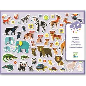 Set plastických samolepek Djeco Zvířecí rodinky