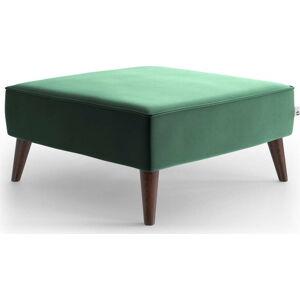 Zelená sametová podnožka My Pop Design Auteuil