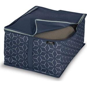 Tmavě modrý úložný box Domopak Metrik, 55x45cm