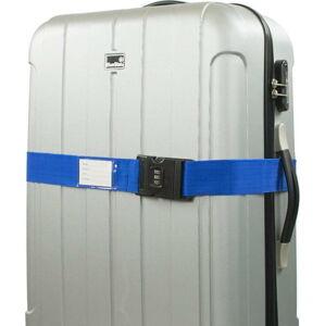 Modrý bezpečnostní pás na kufr Bluestar