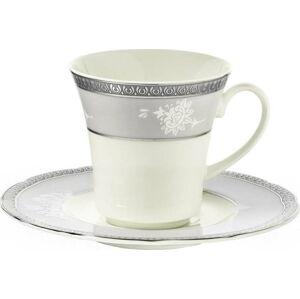 Sada 6 porcelánových šálků s podšálky Kutahya North, 50 ml