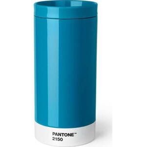 Modrý cestovní hrnek znerezové oceli Pantone, 430ml