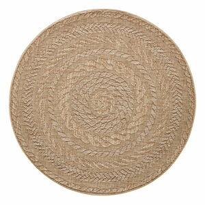 Béžový venkovní koberec Bougari Almendro, Ø 160 cm