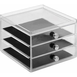 Organizér se 3 zásuvkami InterDesign Serwa,výška12,5 cm