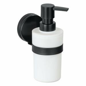Černo-bílý nástěnný dávkovač mýdla Wenko Static-Loc® Plus