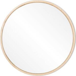 Nástěnné zrcadlo s rámem z masivního dubového dřeva Gazzda Look, ⌀27cm