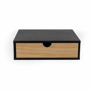 Černý nástěnný noční stolek Woodman Farsta