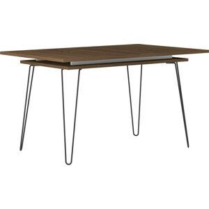 Tmavě hnědý rozkládací jídelní stůl TemaHome Aero