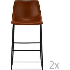 Sada 2 hnědých barových židlí Furnhouse Indiana