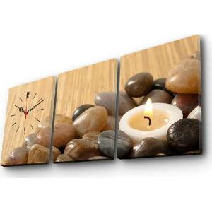 Nástěnné obrazové hodiny Svíčka, 96x40 cm