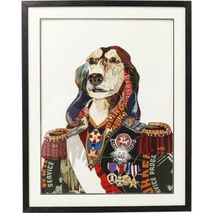 Obraz Kare Design Art General Dog, 72x90cm
