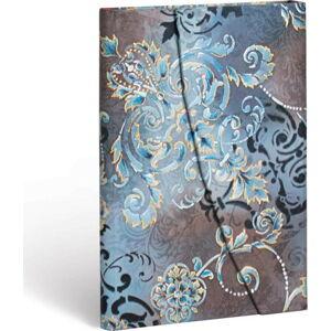 Linkovaný zápisník s tvrdou vazbou Paperblanks Gossamer Grey, 10 x 14 cm